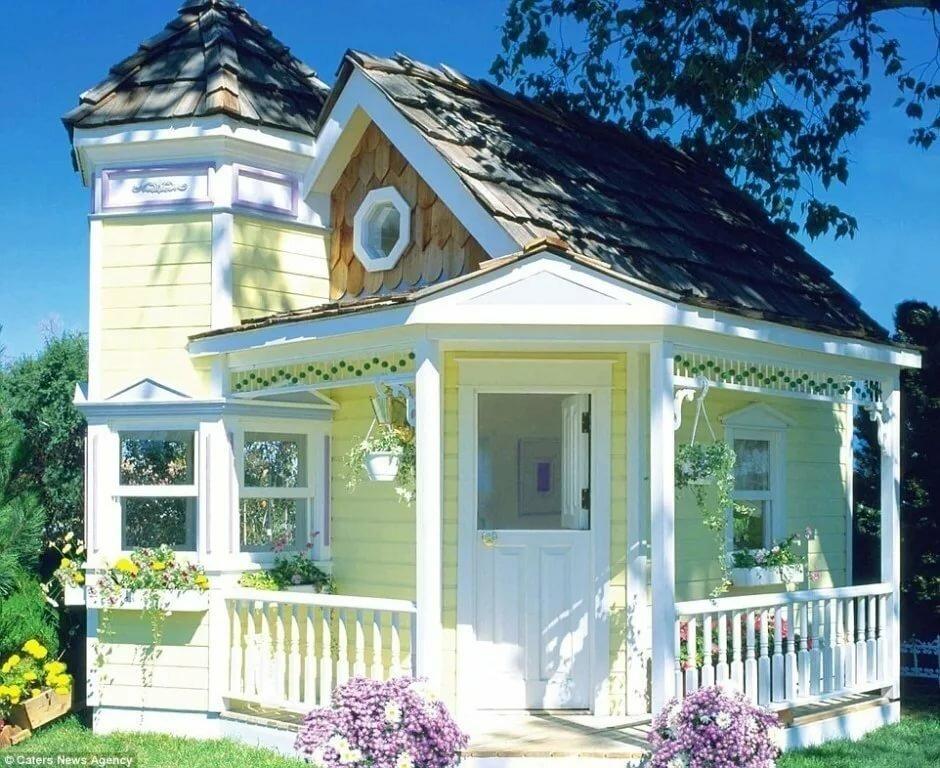 для освоения красиво покрашенные дачные домики фото как-то тоже сложная