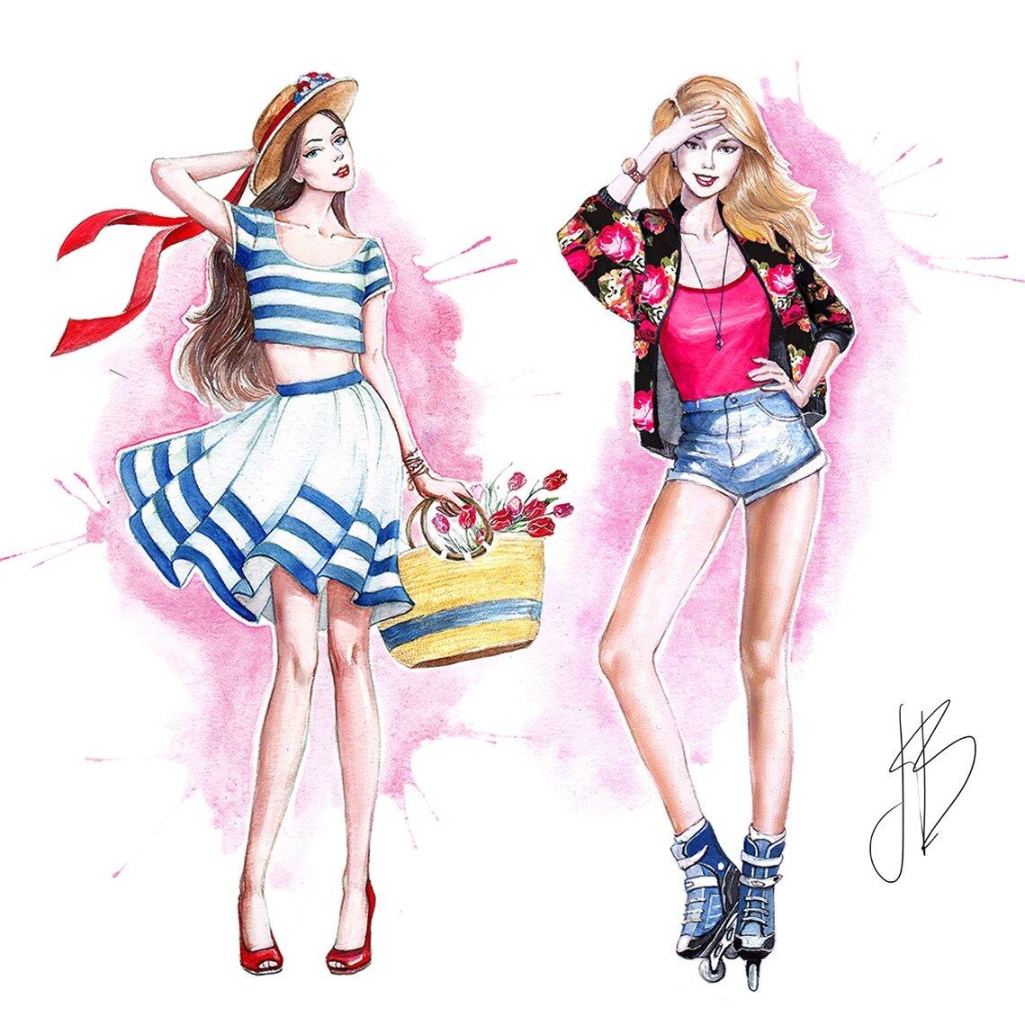 Прикольные модные рисунки для подростков