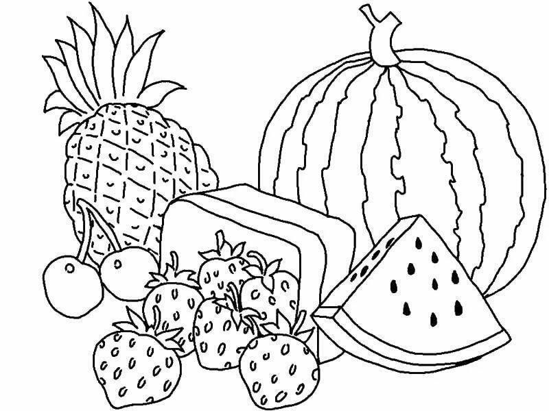 Картинки на тему фрукты раскраска, кошки смешные нарисованные
