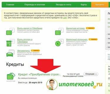 Как взять кредит онлайн в сбербанке пошагово