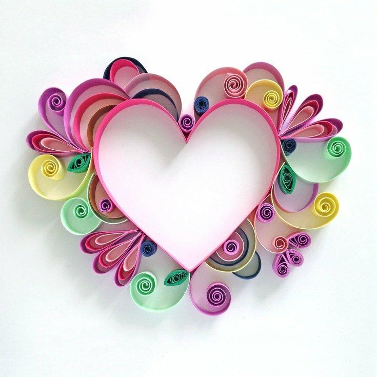Красивая открытка из сердечек