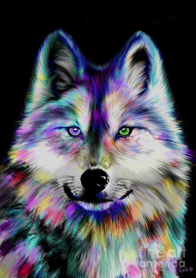 Рисунки волков крутые