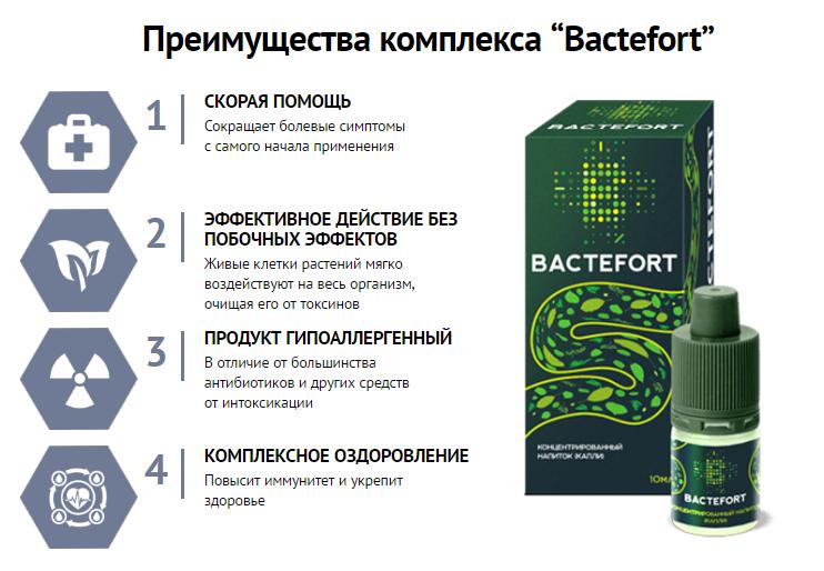 Bactefort - капли от паразитов в Златоусте