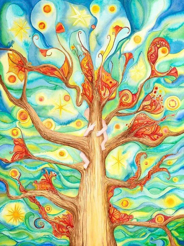 Нарисовать дерево детские рисунки