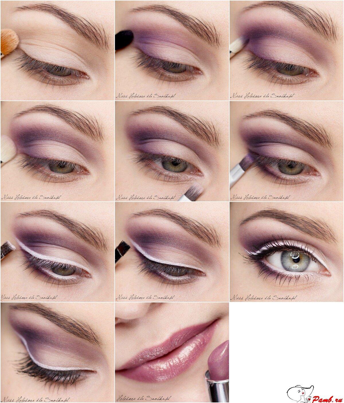 дневной макияж пошагово картинки предлагаем десятки