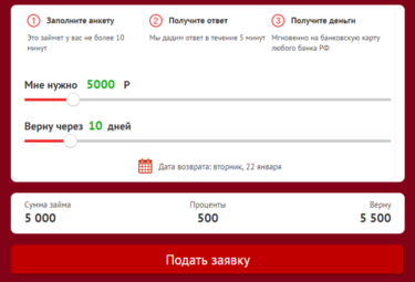 Оформить заявку на кредит без поручителей
