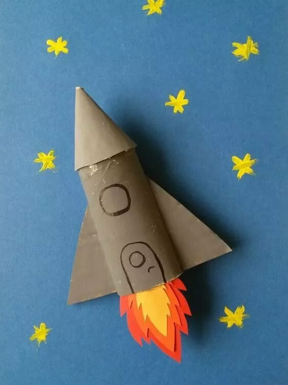 Открытки своими руками с ракетами