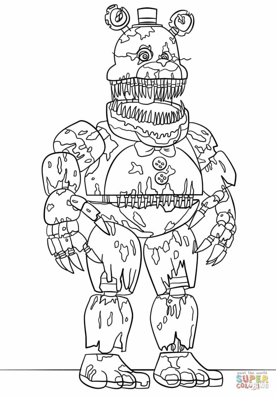 «Раскраска Кошмарный Фредди Раскраски для детей печать ...
