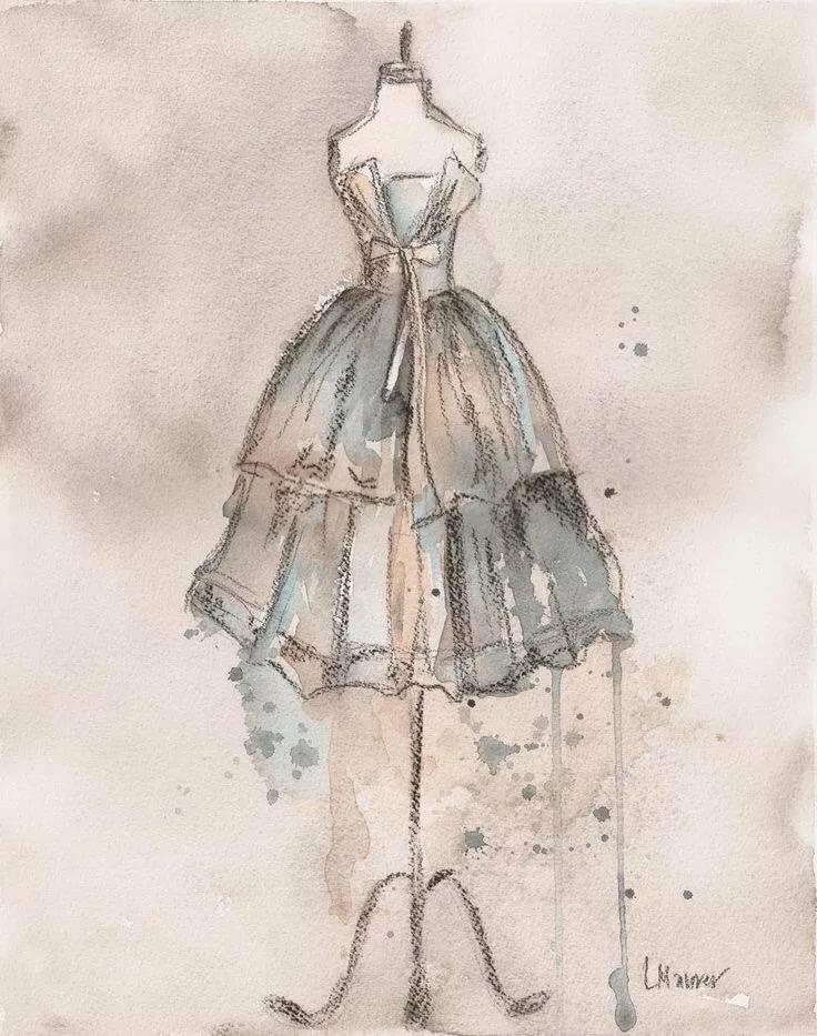 картинки с модой в стиле винтаж нарисовать укрытие