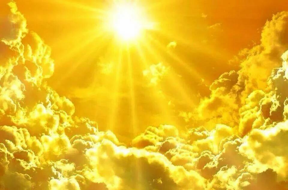 Картинка красивое солнышко светит лучами