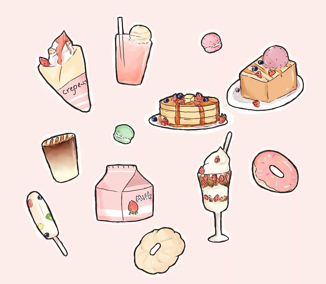 Картинки для срисовки легкие сладости