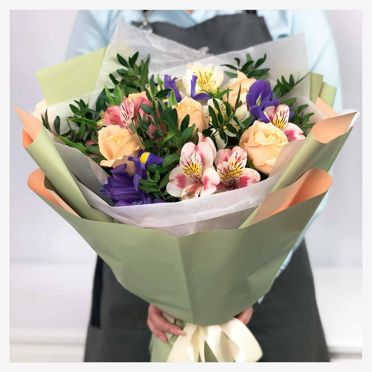 Букет, цветы с доставкой по алматы недорого