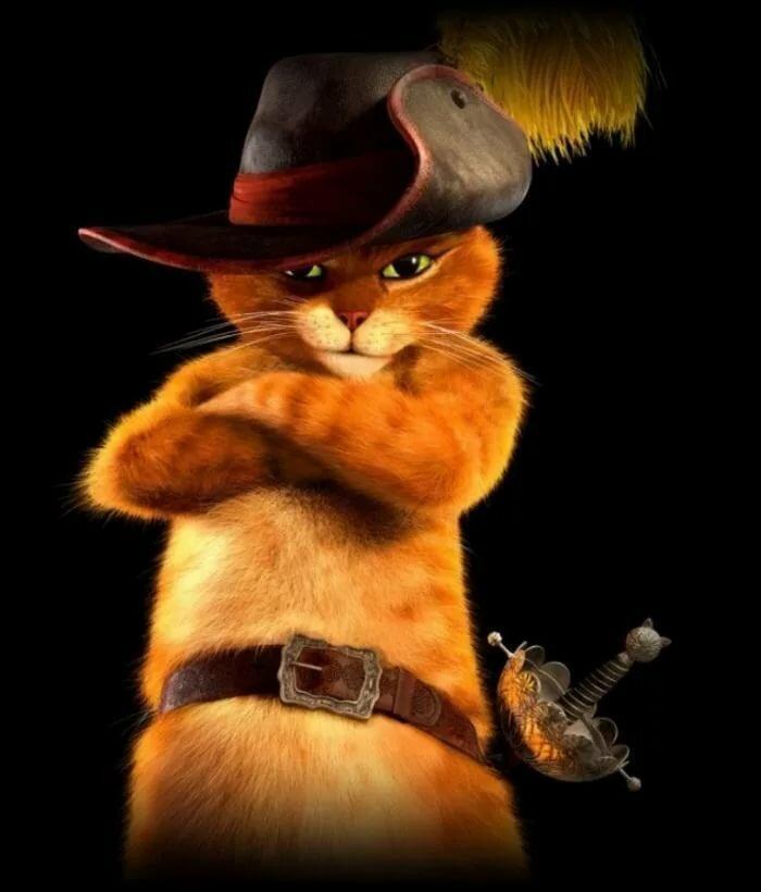 Анимация кот в сапогах картинки