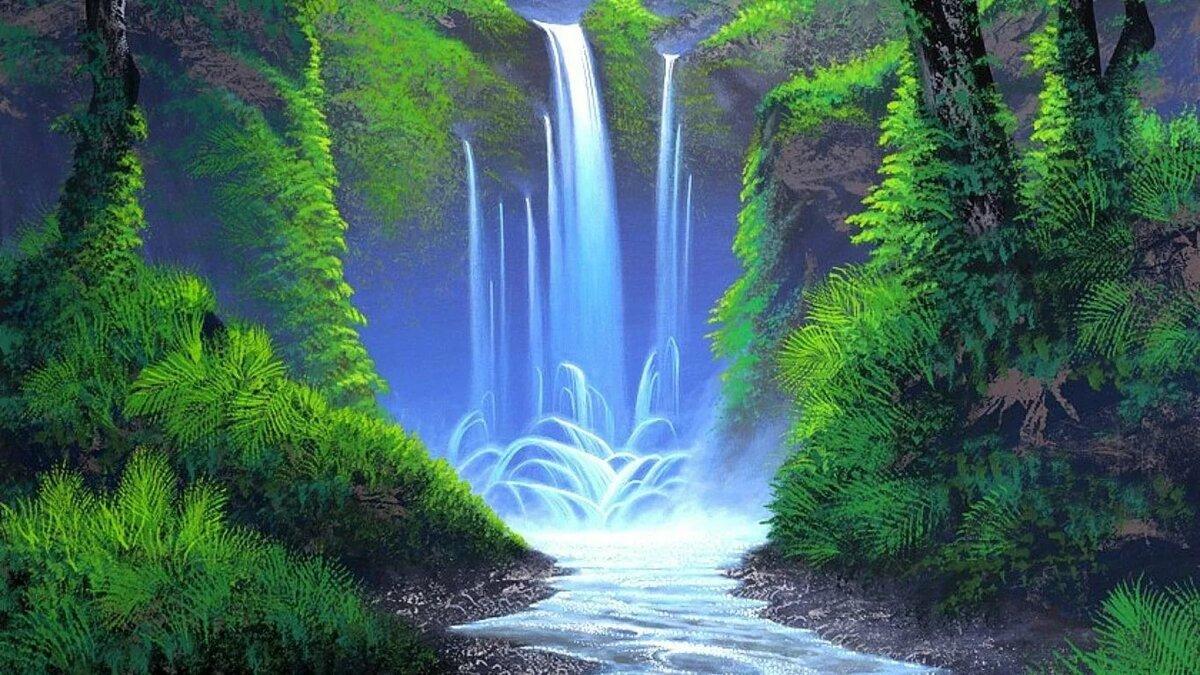 Здравствуй, картинки для рабочего стола с анимацией водопад
