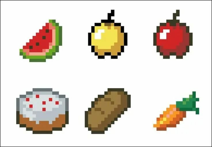 Картинки из майнкрафта еда по клеточкам