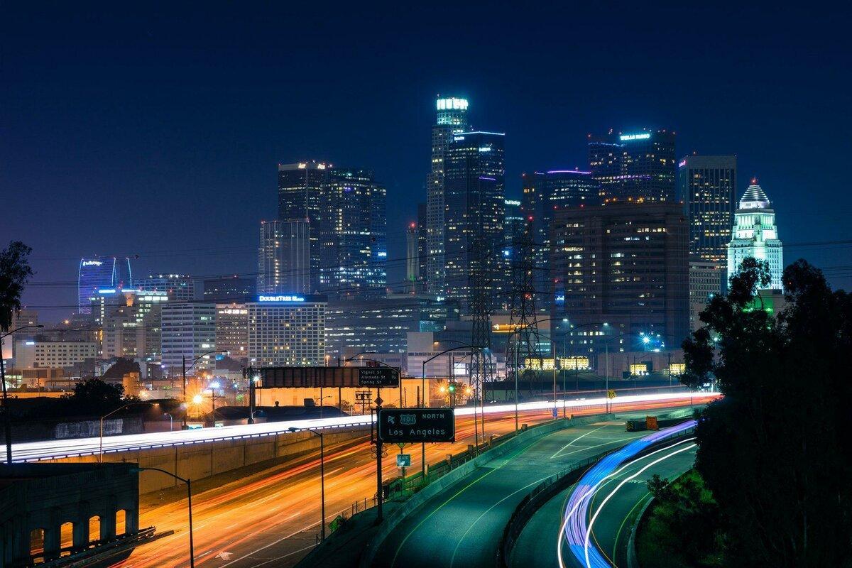 Картинки ночной лос-анджелес