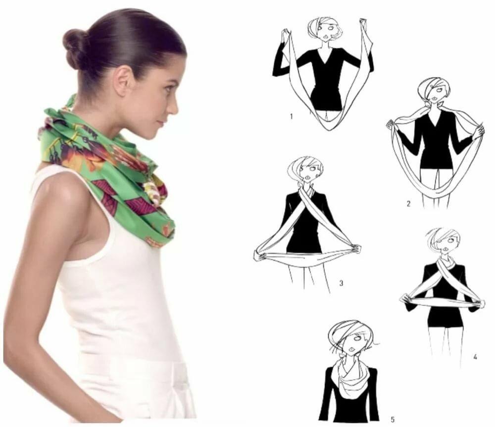 картинки как завязать шарфик предаппьо