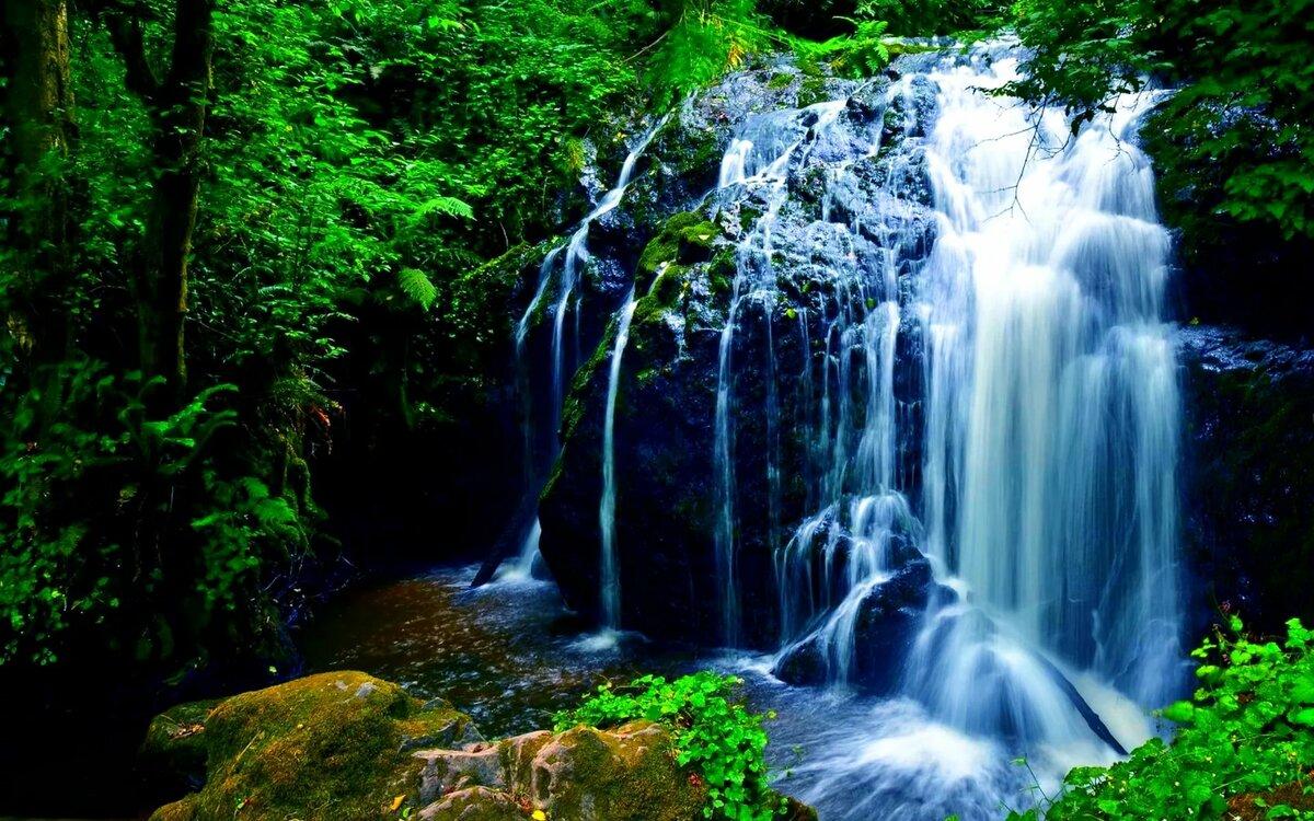 картинки водопады красивые на телефон живые