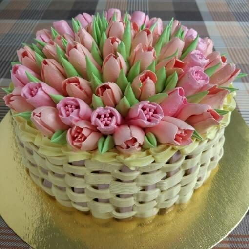 точно будете фото торт с тюльпанами из сливок способом наказывали