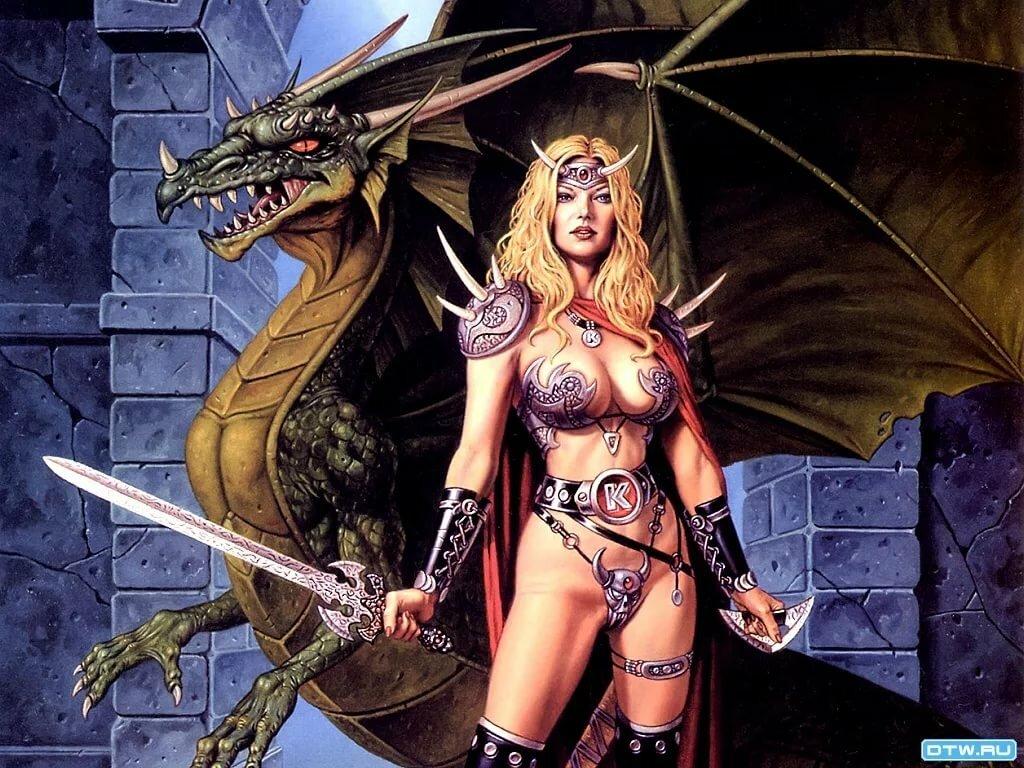 картинки амазонки и драконы пошаговой