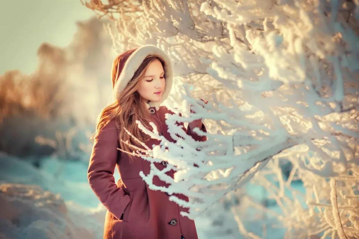Зимние картинки с девушками красивые