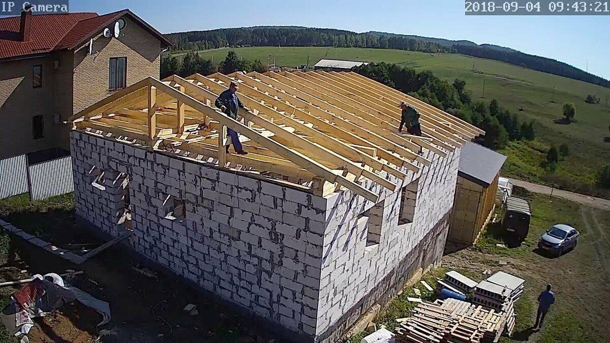 Крыша на моем доме из газобетона Цена вопроса 2018 год  Крыша на дом из газобетона  Цена   Видео  в HD смотреть БЕСПЛАТНО