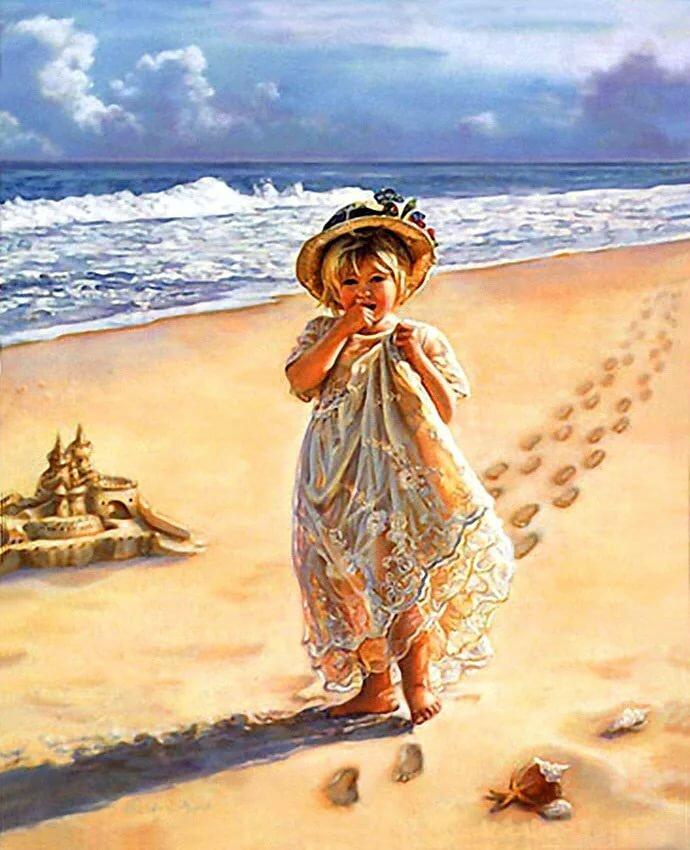 Вода и дети открытки, рыбка