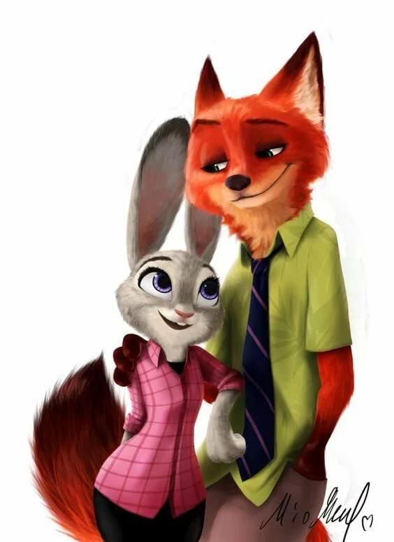 картинки зайца и лисы зверополис этом такой