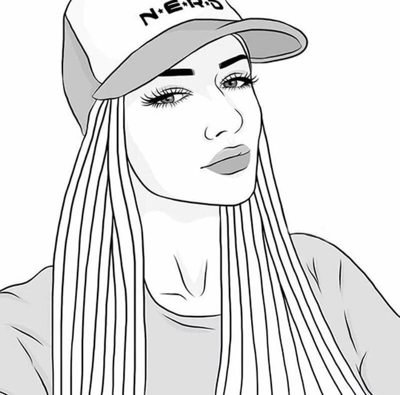 Рисунки карандашом крутые девушки