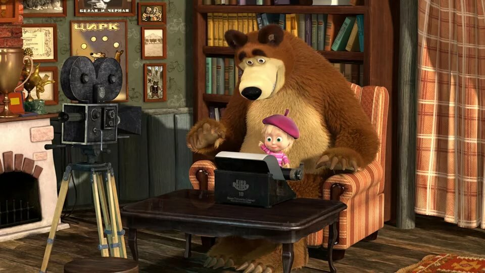 медвежонок смотрит телевизор картинки остальных отсеки