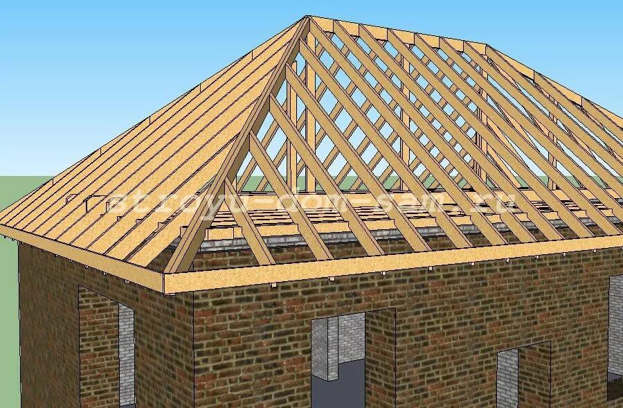 Четырехскатная крыша в картинках