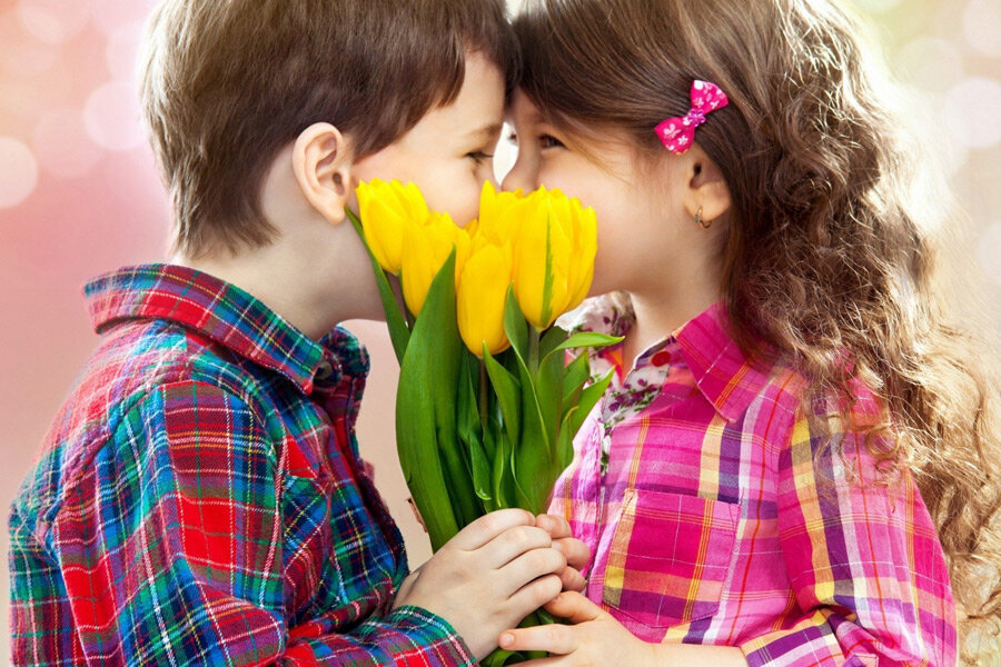 Дети влюбленные картинки, утро