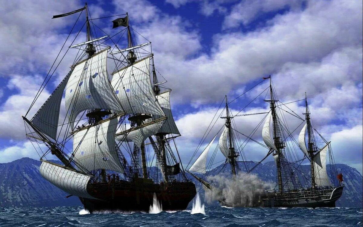 Пиратские корабли картинки и фото