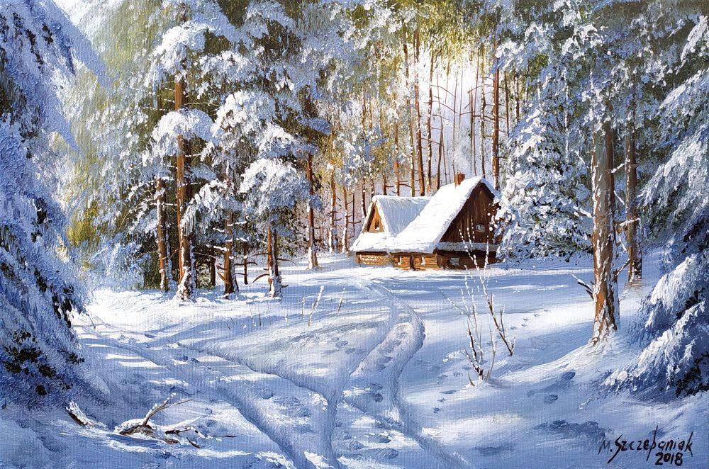Анимационная картинка домик лесника в зимний период роскошные
