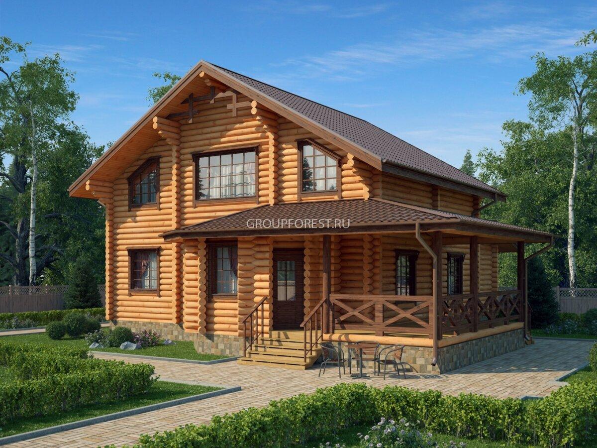 дом из цилиндрического бревна под ключ фото помогут приоткрыть завесу