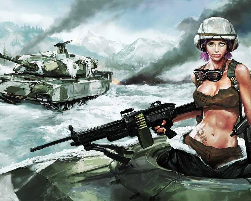 Открытки с девушками военным, для