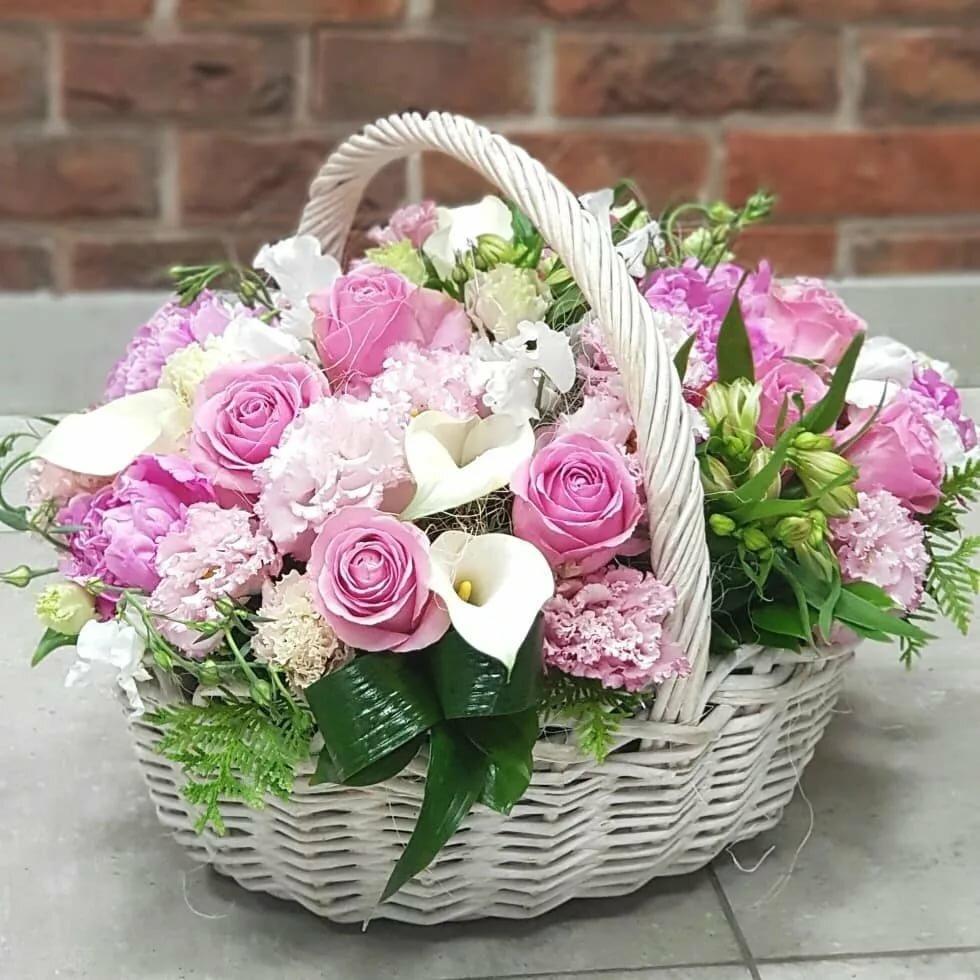 Картинки с цветами в карзине