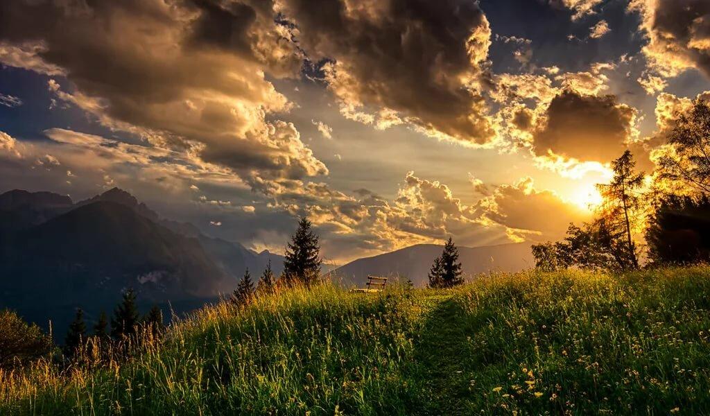 указанном картинка пейзаж солнце собрали всю информацию