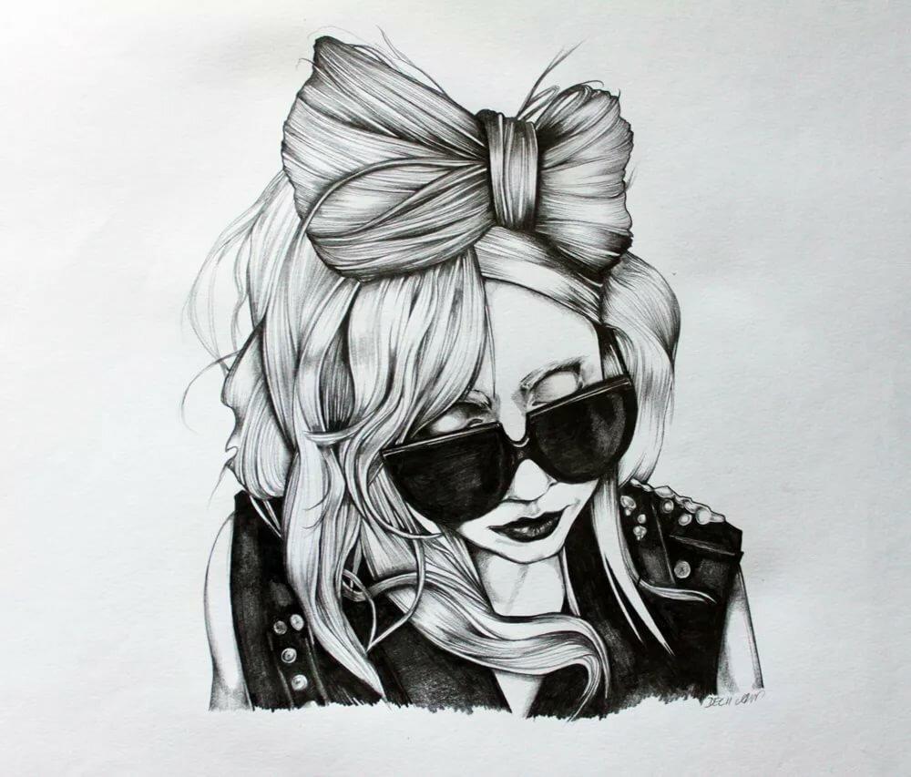 Открытка настроение, картинки для срисовки крутые девчонки