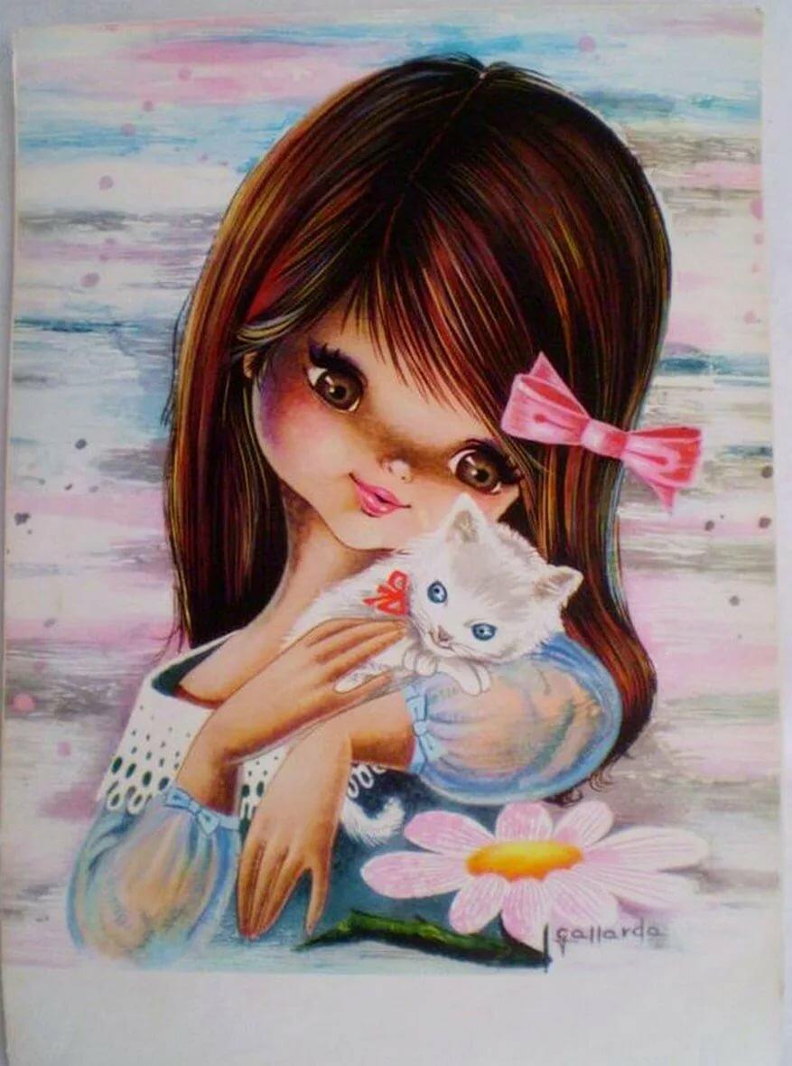 Картинки про девочек рисунки