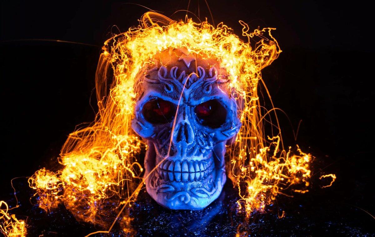 Картинки горящих скелетов
