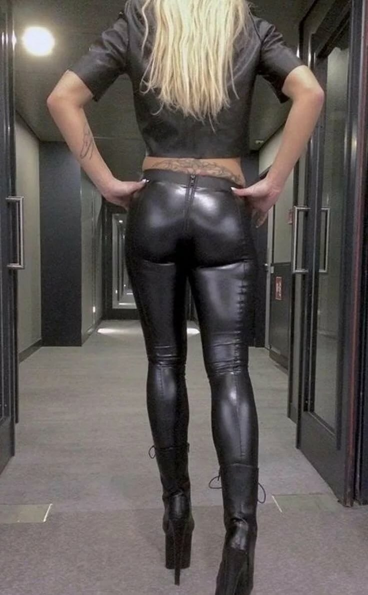 Big penis in tight leather pants — photo 6