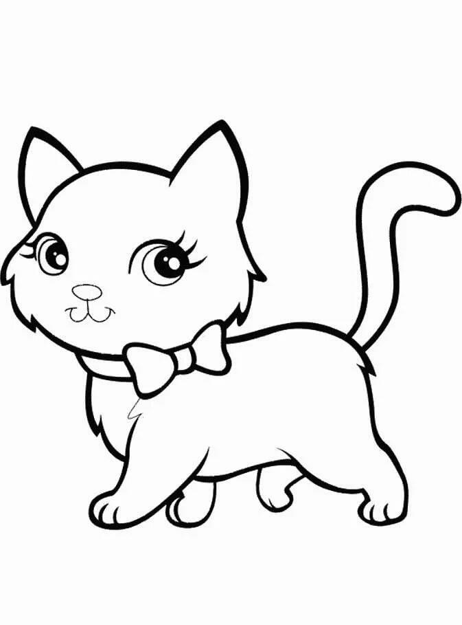 маленькие картинки кошки рисунки вупи