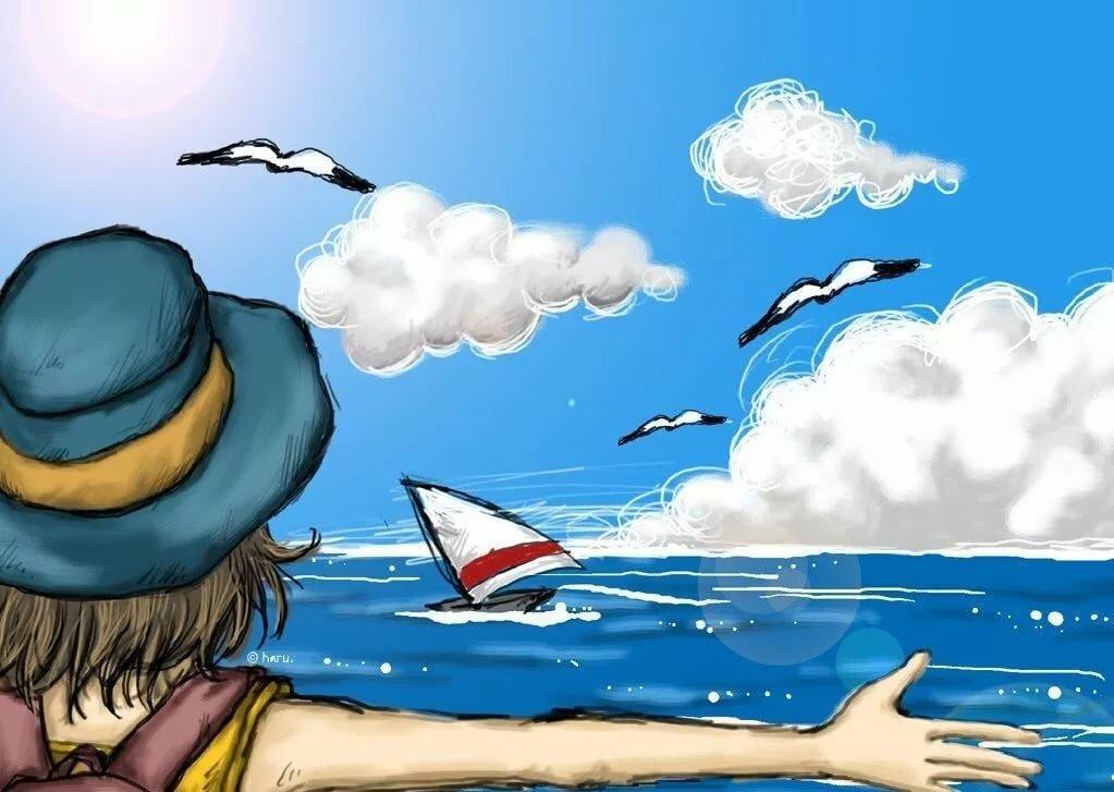 Рисунок лето 6 класс, поздравительной