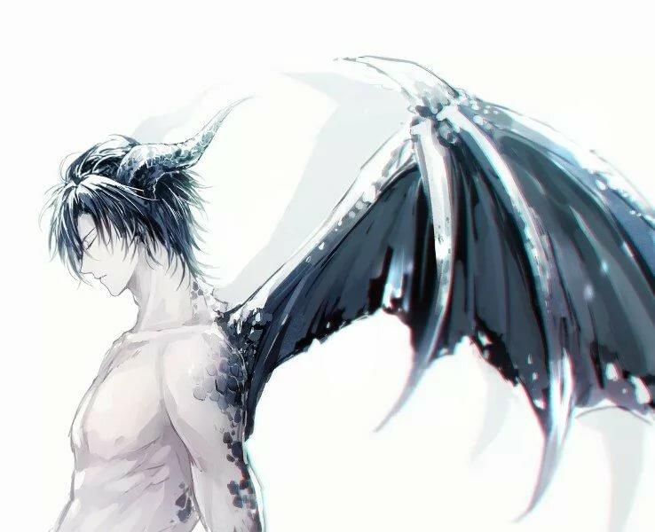 Парень аниме с крыльями красивый картинки