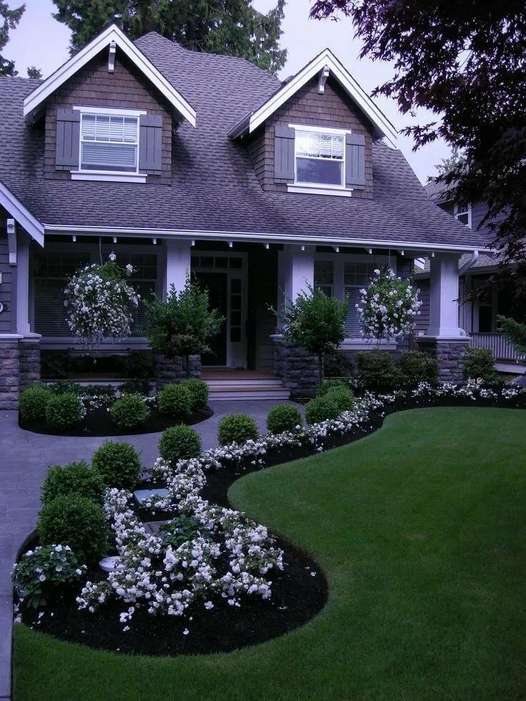 Ландшафтный дизайн дома картинки