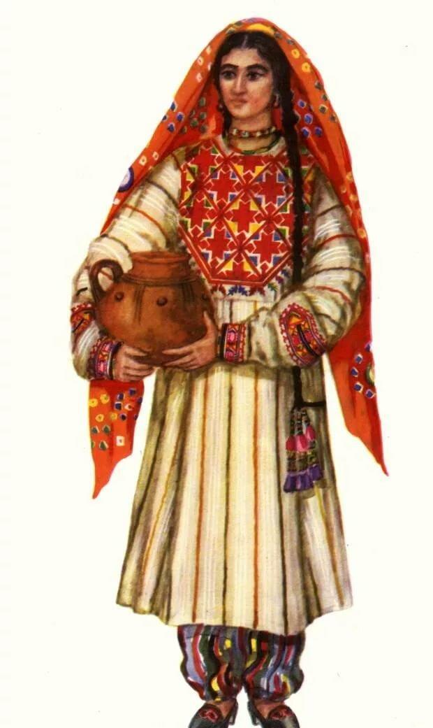 картинки национального костюма таджикистана фабрике звезд