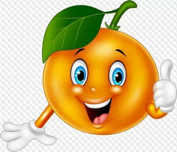 Добрым утром, веселый апельсин картинки для детей на прозрачном фоне