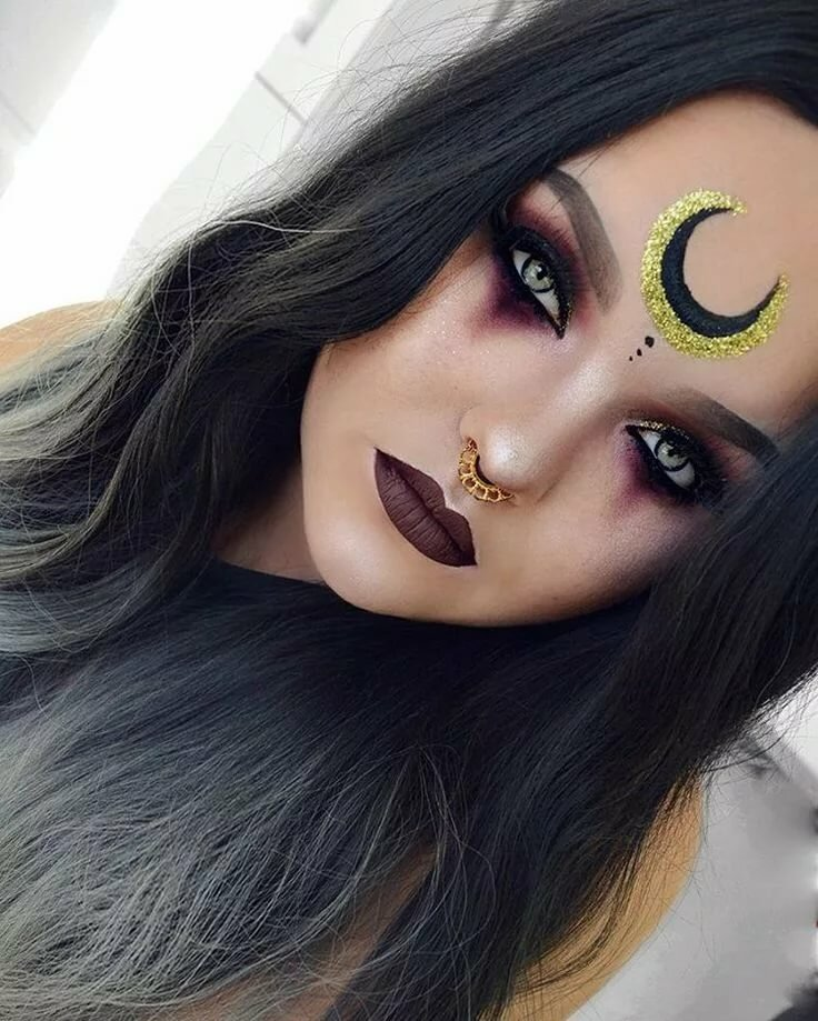 Макияж ведьмы на хэллоуин картинки