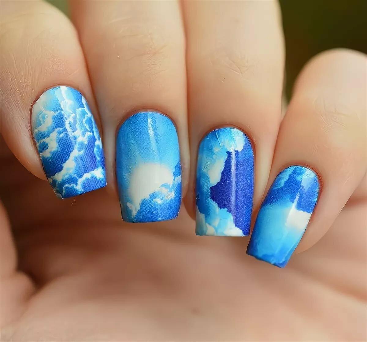 причин это ногти картинка голубые арки